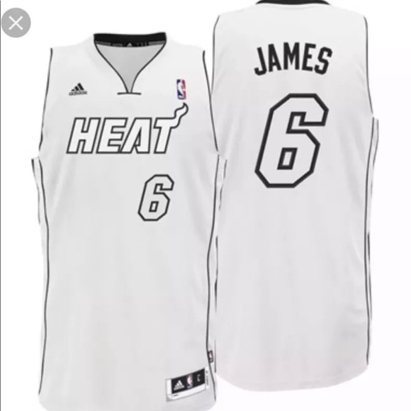 san francisco c6bd3 b4cb8 NWT Adidas Lebron James Jersey Miami Heat White